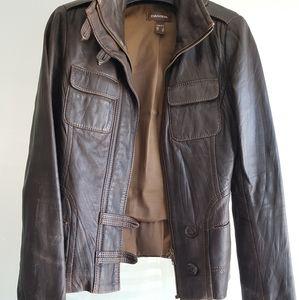 DANIER Brown leather women's jacket